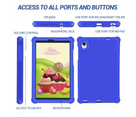 For Lenovo TB-8705F Cover Tab M8 FHD Tablet Case Blue