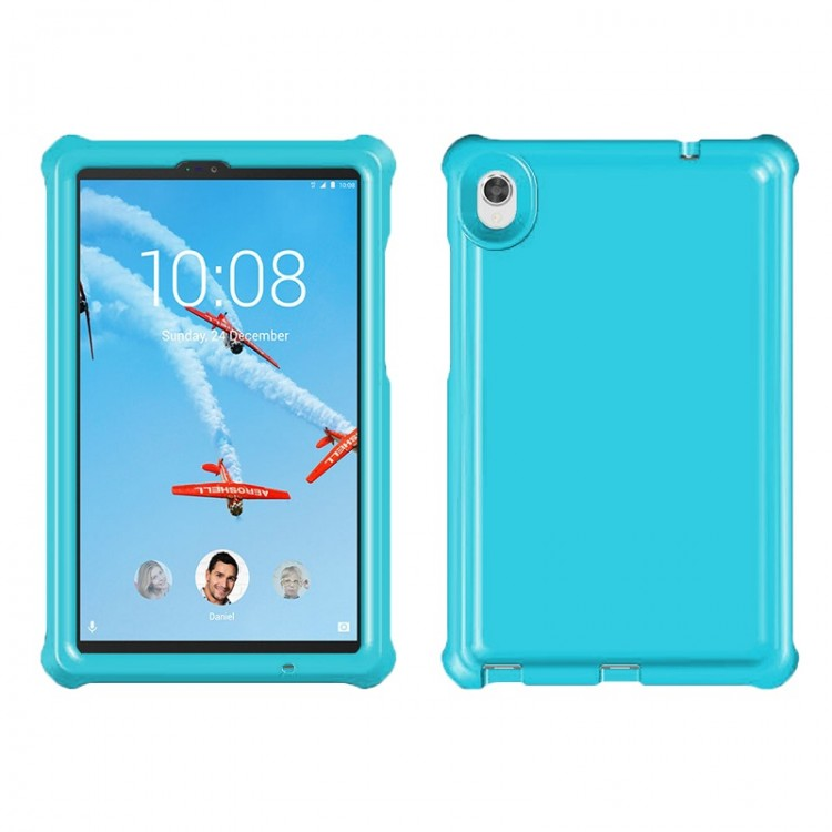 MingShore For Lenovo Tab M8 TB-8705X-N-F Tablet Silicone Bouncing Case Turquoise