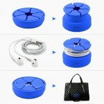 MingShore Silicone Earbuds Cable Holder Royal Blue