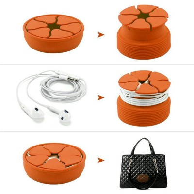 MingShore Earphone Wire Box Organizer Orange