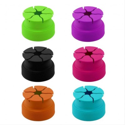 MingShore Silicone Cable Organizer For Earphones Purple