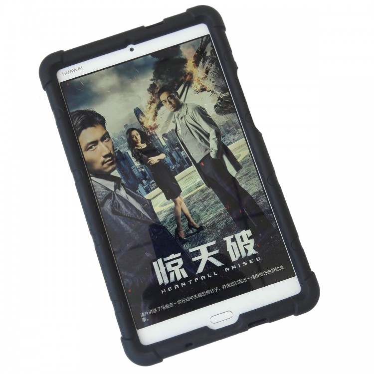 MingShore Silicone Bumper Case with handstrap for Huawei MediaPad M3 8.4 inch BTV-W09 DL09 tablet