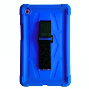MINGSHORE Silicone Rugged Case For Huawei MediaPad M5 8.4 Inch Tablet BLUE