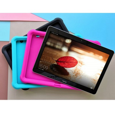 MingShore For Huawei T3 10 AGS-W09 Kids-Friendly 9.6'' Tablet Case RASPBERRY